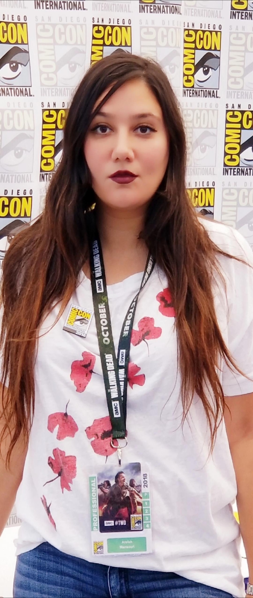 Costume designer Arefeh Mansouri at the Comic-Con International in San Diego